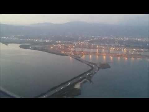 Delta Airlines A320 Kingston Jamaica Twilight Landing