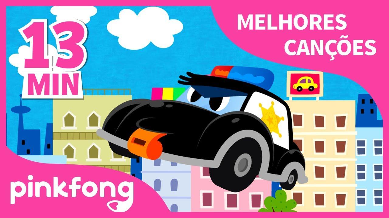Carro de Polícia e mais músicas Infantis | + Compilação | Pinkfong Canções para crianças