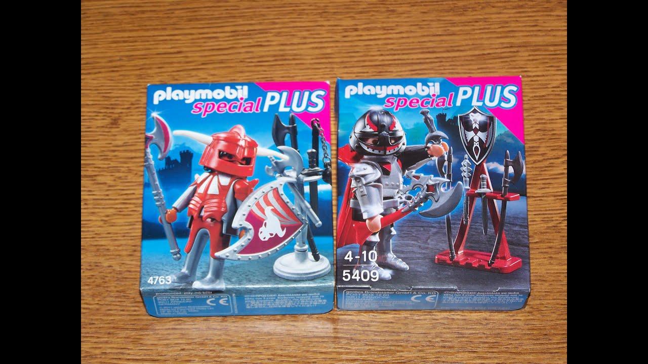 review playmobil spcial plus 4763 et 5409 combattant et chevalier - Playmobile Chevalier