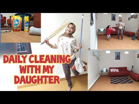 bersih---bersih-ruang-keluarga-|-room-decoration-|-dekorasi-ruangan-|-cara-bersihkan-lantai-vinyl