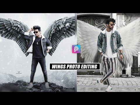 PicsArt Wings Photo Editing Tutorial In Picsart Step By Step In Hindi - Devil Wings Edit