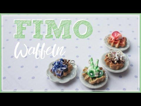 FIMO Waffeln | miniature polymerclay Tutorial | how to