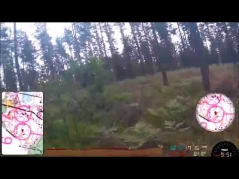Headcam GPS Orienteering Video: SM-Training in Blekinge