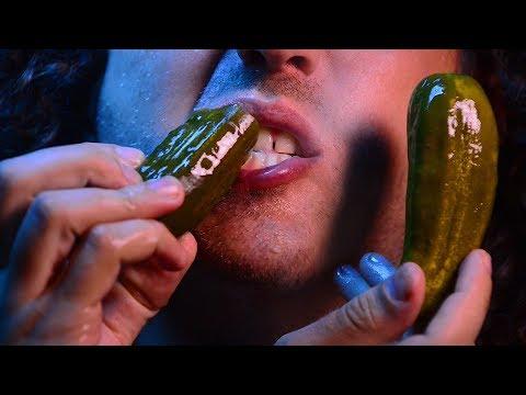 Pickle ASMR Eating Sounds No Talking 👅 Big Crunch😻 Intense 먹방