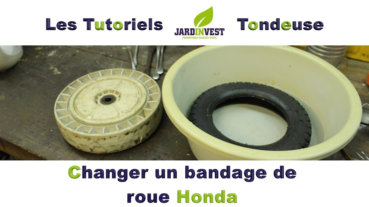 tutoriel tondeuse n 11 astuce pour changer un bandage de roue de tondeuse honda youtube. Black Bedroom Furniture Sets. Home Design Ideas