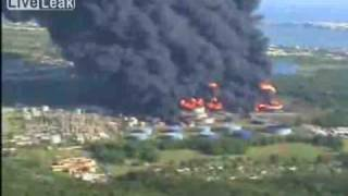 Puerto Rico Oil Refinery Fire Explosion