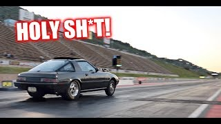 Twin Turbo RX-7 at the Track.. It's SO FAST!