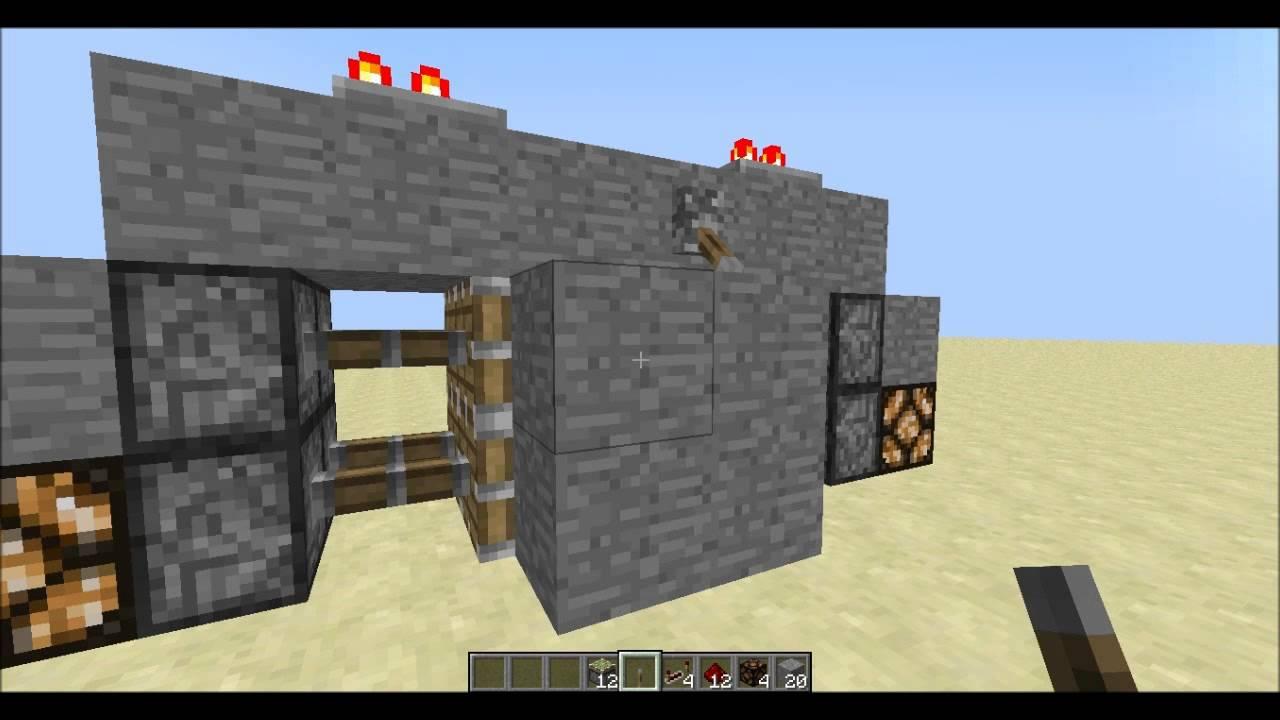 Minecraft redstone tutorial hoe maak je een 2x2 piston deur nl youtube - Hoe maak je een woonkamer ...