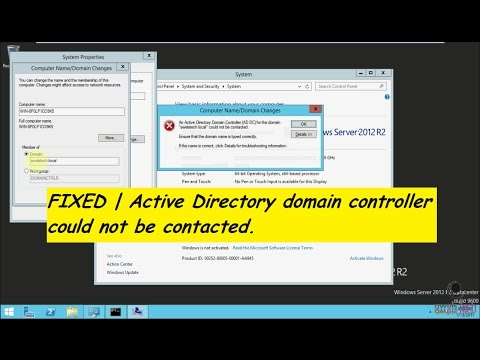 Fixed | An Active Directory Domain Controller for the domain could not be contacted.