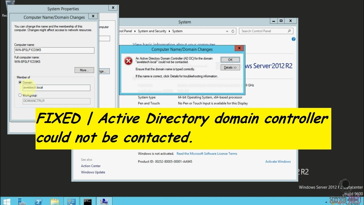 Fixed | An Active Directory Domain Controller for the domain could not be  contacted