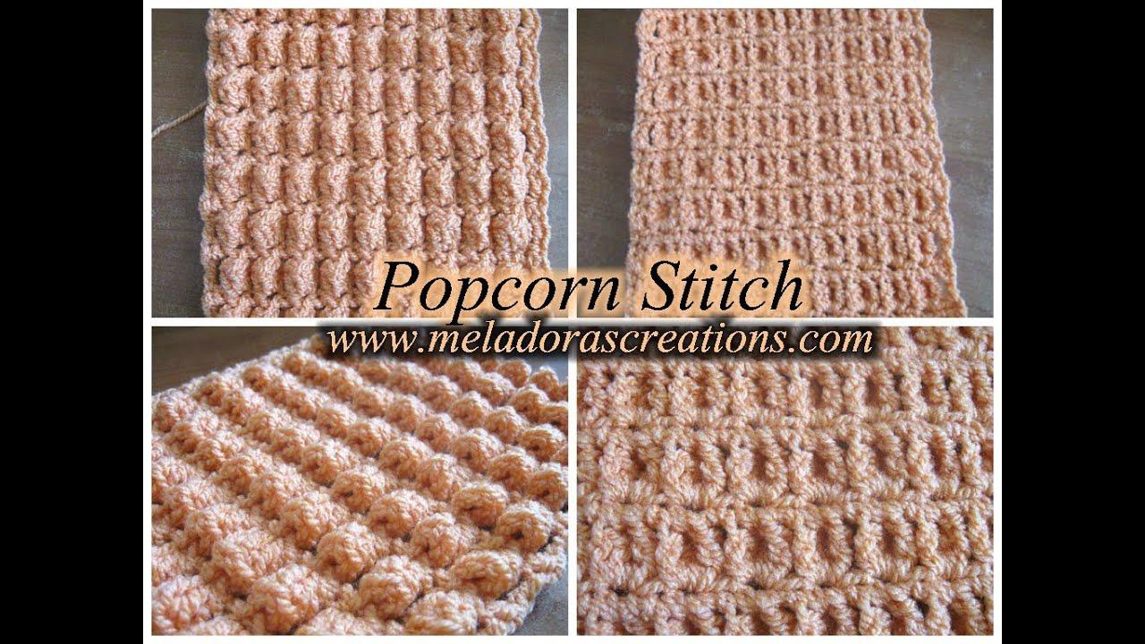 Popcorn Stitch Left Handed Crochet Tutorial Youtube