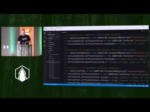 DAVID CATUHE 3D everywhere with WebGL and Babylon js | CascadiaFest 2015