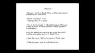 A Brief Introduction to Afrikaans