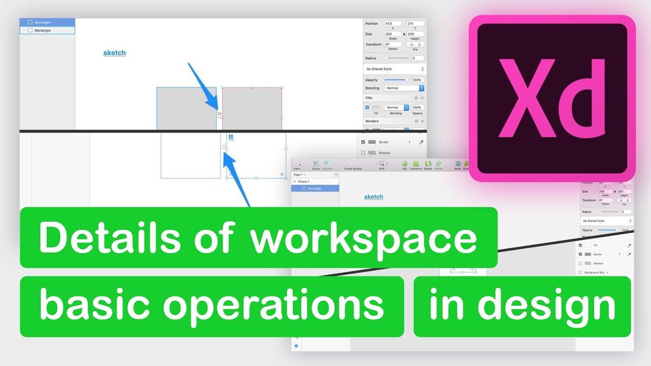 Adobe XD | NHLuong | Chi tiết không gian làm việc của Adobe XD và các thao tác cơ bản trong thiết kế