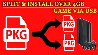 Split and Install Over 4GB PS3 Games via USB