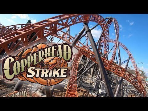 Copperhead Strike Front Seat POV Carowinds New for 2019 MACK Rides Roller  Coaster