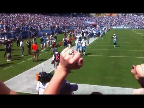 Tennessee Titans Nate Washington Touchdown Vs. Broncos Endzone View