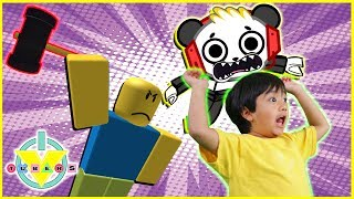 Roblox Flee the Facility RUN FROM THE BEAST Let's Play with Ryan ToysReview et Combo Panda