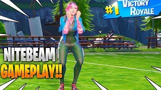 New NITEBEAM Skin Gameplay In Fortnite Battle Royale..