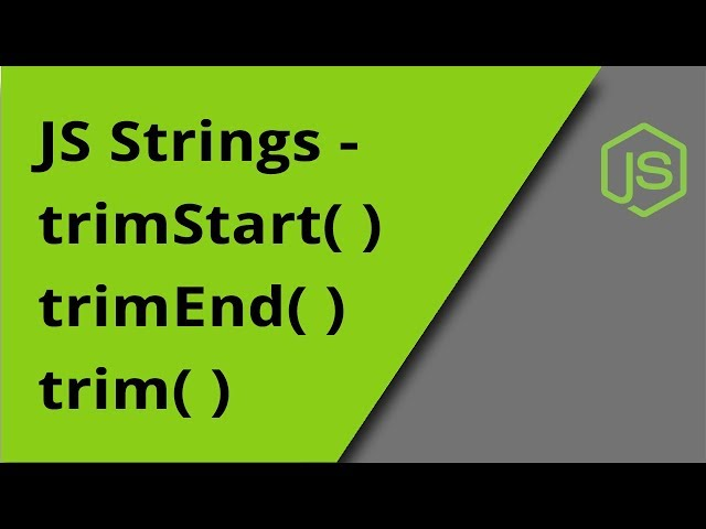 JS String trimming methods