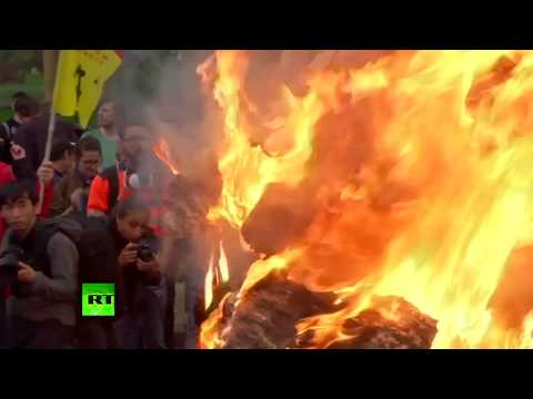 Paris clashes RAW: Violence in French capital as protesters hit streets for anti-Macron rally