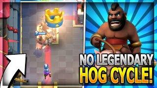 super fast hog cycle deck w no legendary cards hog rider legendary arena 11 in clash royale