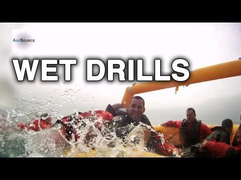 Coast Guard Aviation Water Survival Drills