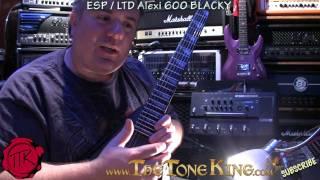 ESP / LTD Alexi 600 BLACKY Guitar Demo Review.  Alexi Laiho COB Signature Series Model - Bugera 6260