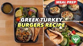 Meal Prep - Mediterranean Greek Turkey Burgers