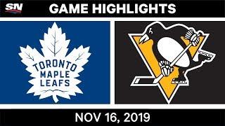 NHL Highlights   Maple Leafs vs Penguins - Nov. 16, 2019