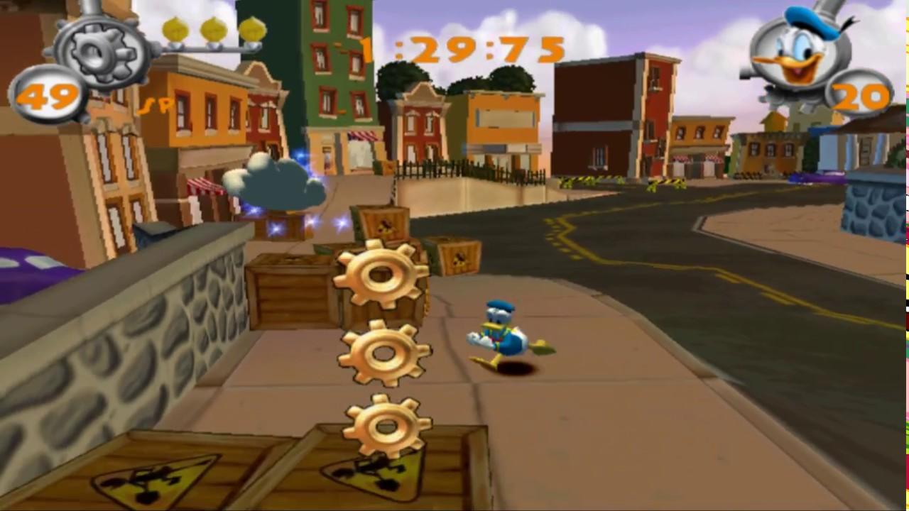 Main Street (Donald Duck Quack Attack - Goin' Quackers) Walkthrough #8 - YouTube
