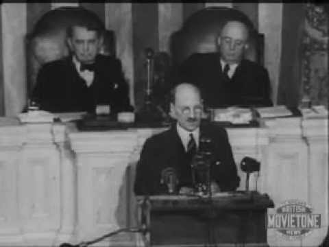 Clement Attlee addresses the United States Congress
