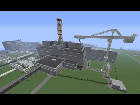 Minecraft Chernobyl Nuclear Power Plant with TEKKIT