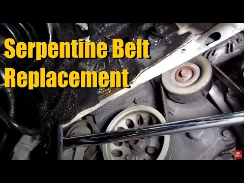 SERPENTINE ACCESSORY DRIVE BELT replacement transversely mounted engine (2004 Mitsubishi Lancer