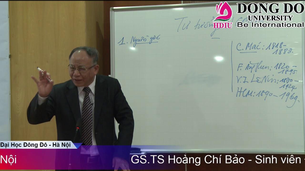GS.TS Hoàng Chí Bảo giảng dạy các môn học lý luận chính trị