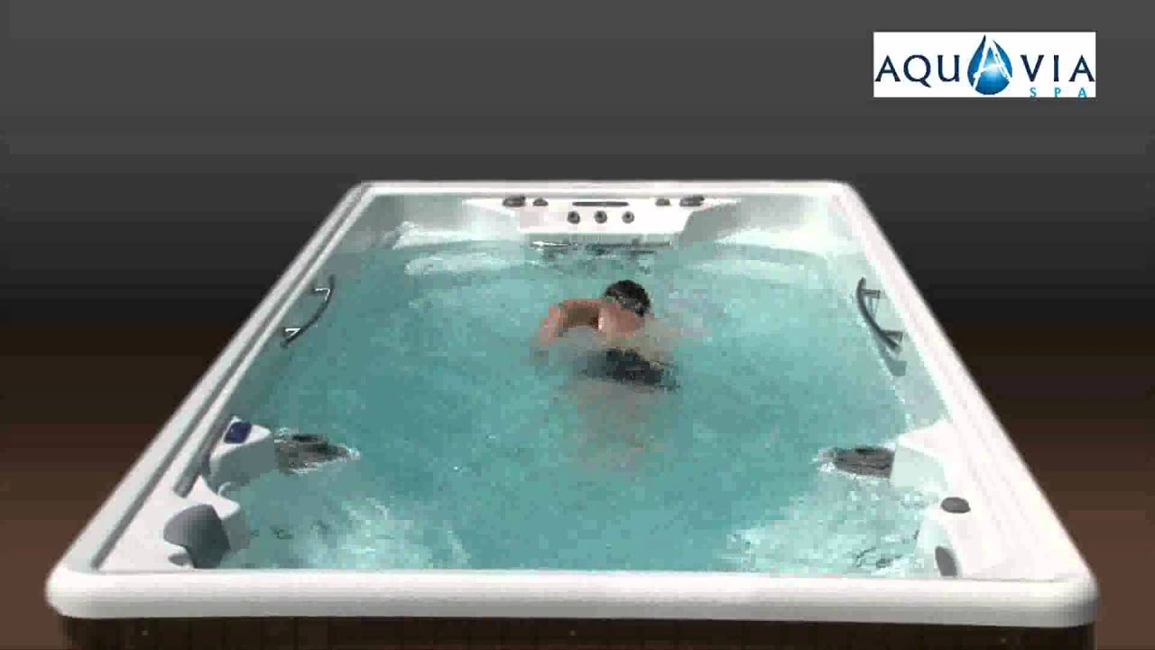 spa de nage jacuzzi de nage aquaviaspa youtube. Black Bedroom Furniture Sets. Home Design Ideas