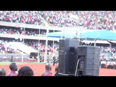 TANZANIA'S NATIONAL ANTHEM COLORS  PRESIDENT UHURU KENYATTA'S INAUGURATION