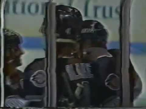 Jari Kurri hat trick in first game with Kings (10/4/91) @ Winnipeg Jets