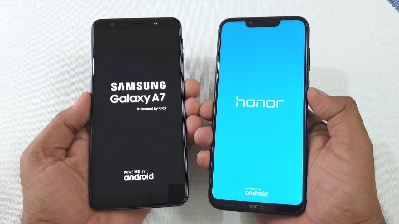 samsung galaxy a7 2018 vs honor play speed test youtube. Black Bedroom Furniture Sets. Home Design Ideas