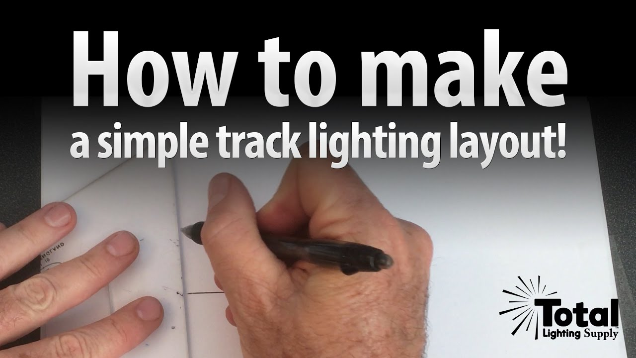 how to make a simple track lighting layout by total track lighting video 1
