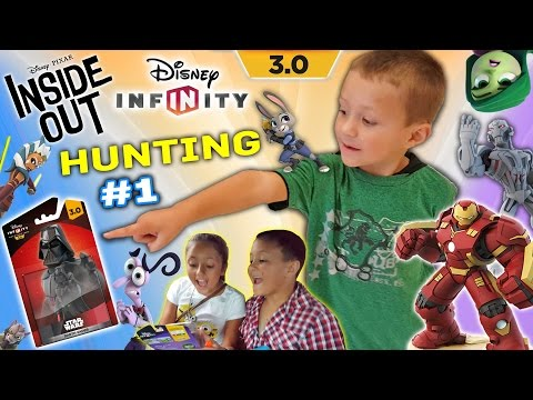 Disney Infinity 3.0 HUNTING #1: Looking 4 More W/ Mom & Chase (FGTEEV INSIDE OUT/STAR WARS SHOPPING)