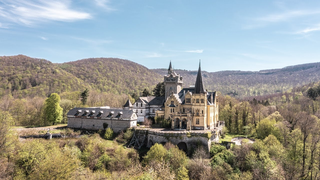 HUGE Abandoned Disney Like Hilltop CASTLE in the mountains of Germany