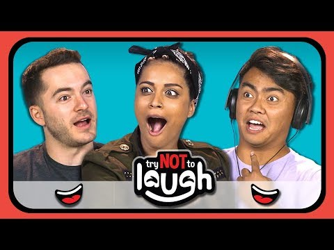 YouTubers React To Try To Watch This Without Laughing Or Grinning #11