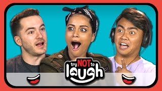 Download YouTubers React To Try To Watch This Without Laughing Or Grinning #11 Mp3 and Videos