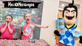 Hello Neighbor in Real Life Steals Our Toys! Zoops Toys Scavenger Hunt!!
