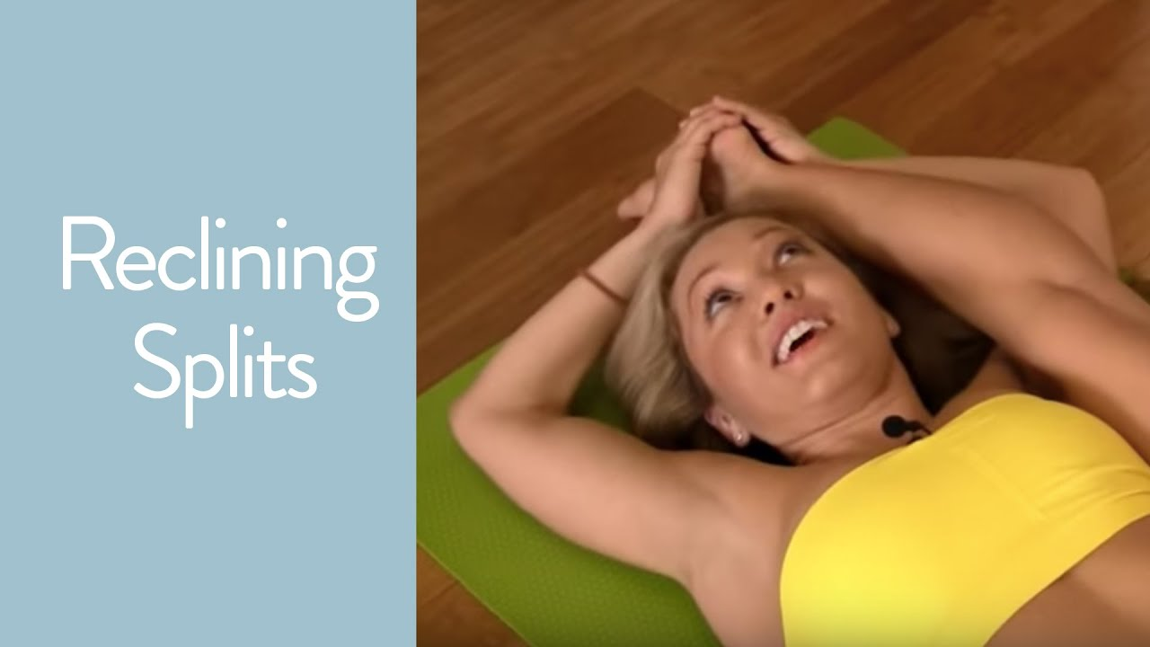 Reclining Splits, Supta Trivikramasana in Ashtanga Yoga with Kino