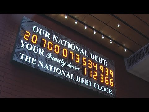 National Debt Clock Near Times Square In New York City