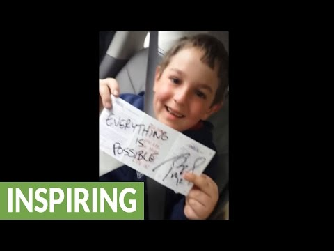 Biggest Patriots fan finds Tom Brady's autograph