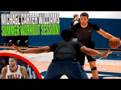 Michael CarterWilliams Summer Workout With JLaw!  MCW 1v1 & Ball Handling Drills