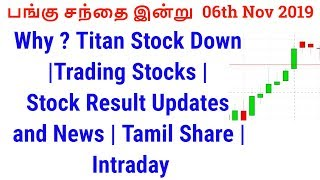 Why ? Titan Stock Down |Trading Stocks | Stock Result Updates and News | Tamil Share | Intraday